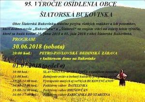 Šiatorská Bukovinka - 95. výročie osídlenia obce